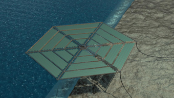 Floating solar field concept