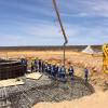 Loeriesfontein Wind Farm turbine foundation's the greenest