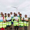 Winners of creative writing competition visit wind farm